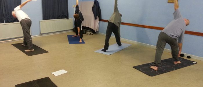 In the Jack Crease Room Yatton Yoga for Blokes