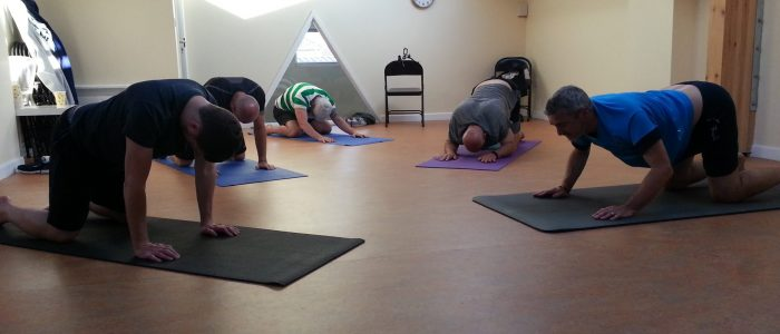 Moving cat cow Clevedon Yoga for Blokes